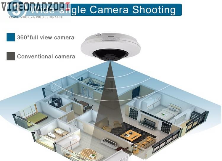 IP kamera CroCam S600 (H.265/H264 ,IR 20m, 1.05mm=360*, 5Mpx, P2P, POE) + CVBS od  za 2.998,75kn