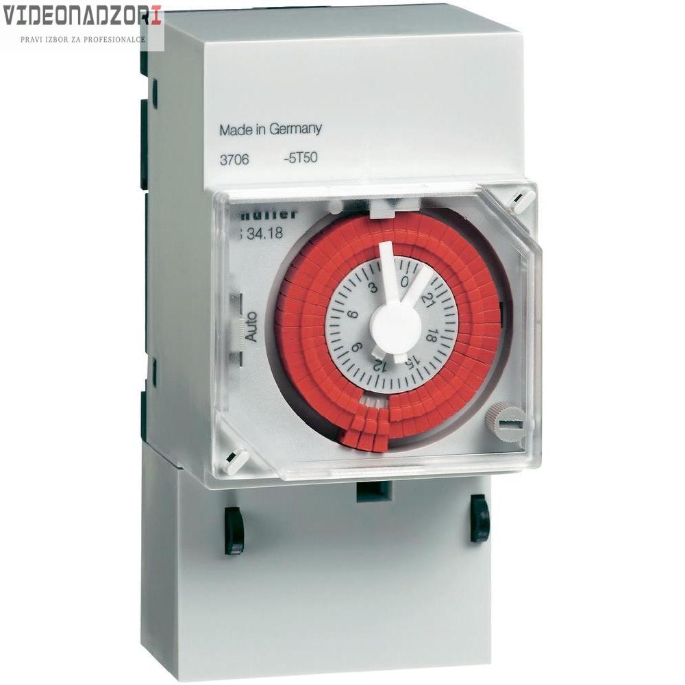 Uklopni sat za montažu na profilne šine, analogni, Müller 12 V/DC, 24 V/DC, 24 V/AC 16 A/250 V od  za samo 498,75kn