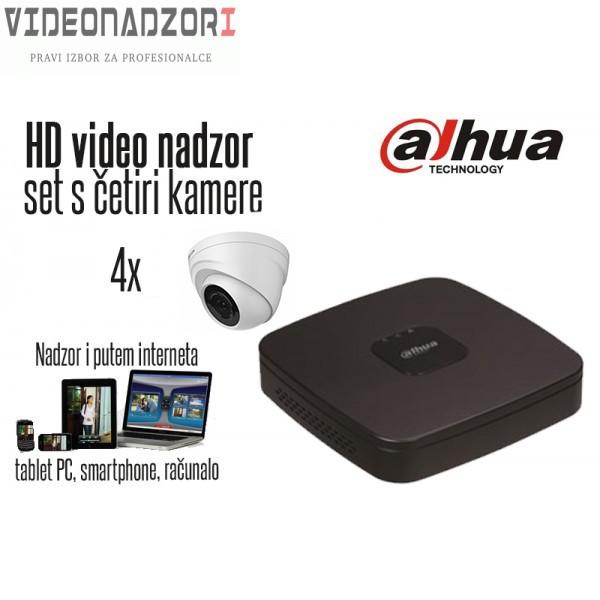 Komplet 4 HD kamere 720p Dome - Dahua prodavac VideoNadzori Hrvatska  za samo 2.737,50kn