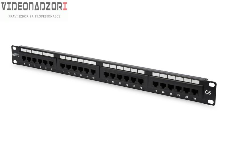 Patch panel UTP C6 24p prodavac VideoNadzori Hrvatska  za samo 436,25kn