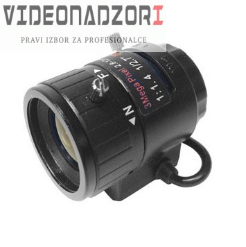 """Objektiv Dahua 3 Mpix D/N objektiv, 2,7-12 mm, autoiris DC, CS dosjed, F1.6, 1/2,7"""" prodavac VideoNadzori Hrvatska  za 498,75kn"""