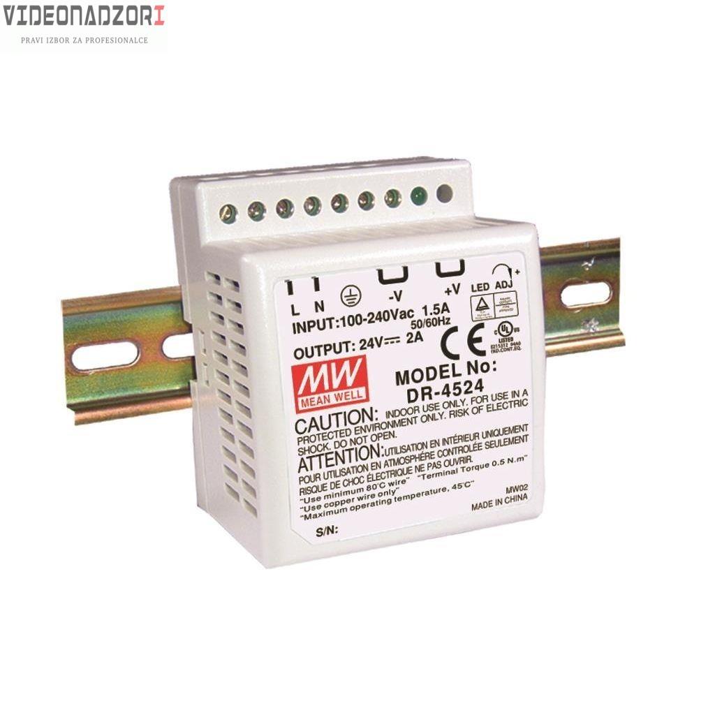 Industrisko DIN Napajanje AC-DC Izlaz 12Vdc i 3.5A prodavac VideoNadzori Hrvatska  za 311,25kn