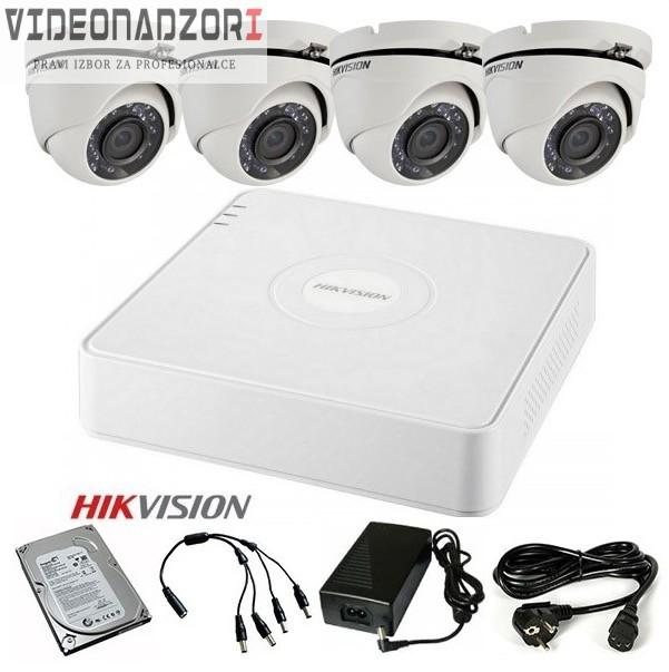 Komplet 4 HD kamere 720p Bullet ili Dome brend HikVision Hrvatska [ za 2.587,50kn