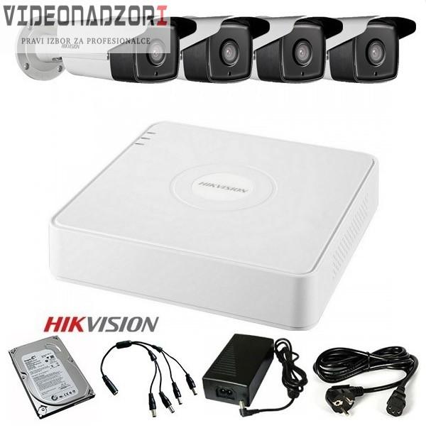 TURBOHD Komplet video nadzor 4 FULL HD kamere (Domet IR 40m, 1080p, 3.6mm) brend HikVision Hrvatska [ za 4.887,50kn