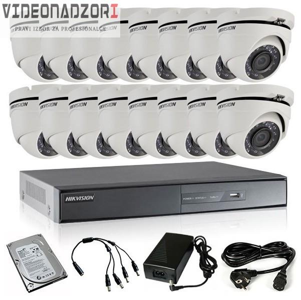 TURBOHD Komplet video nadzor 16 HD kamere (Dome 20m, 720p) prodavac VideoNadzori Hrvatska  za 9.903,75kn