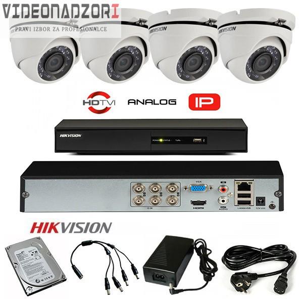 Komplet 4 HD kamere 720p PRO brend HikVision Hrvatska [ za 3.198,75kn