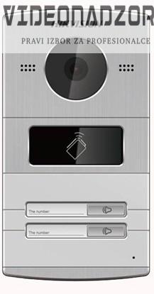 IP vanjski interfonski panel HikVision DS-KV8202-IM dvije pozivna tipka, kamera 1,3Mpx, čitač kartica, aluminijsko kućište od  za samo 2.123,75kn