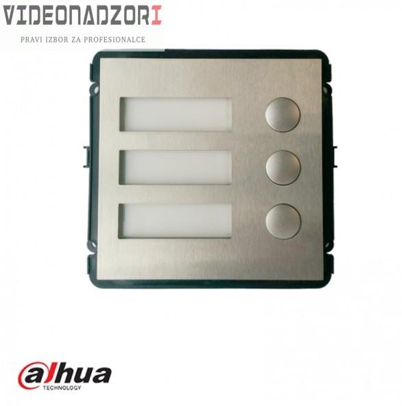 DH-VTO2000A-B Modul sa tri tastera a za IP dahua modularni sistem prodavac VideoNadzori Hrvatska  za samo 498,75kn