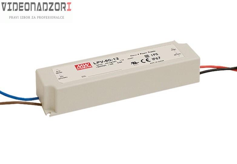 MeanWell, 60W,12 VDC-5A prodavac VideoNadzori Hrvatska  za 311,25kn