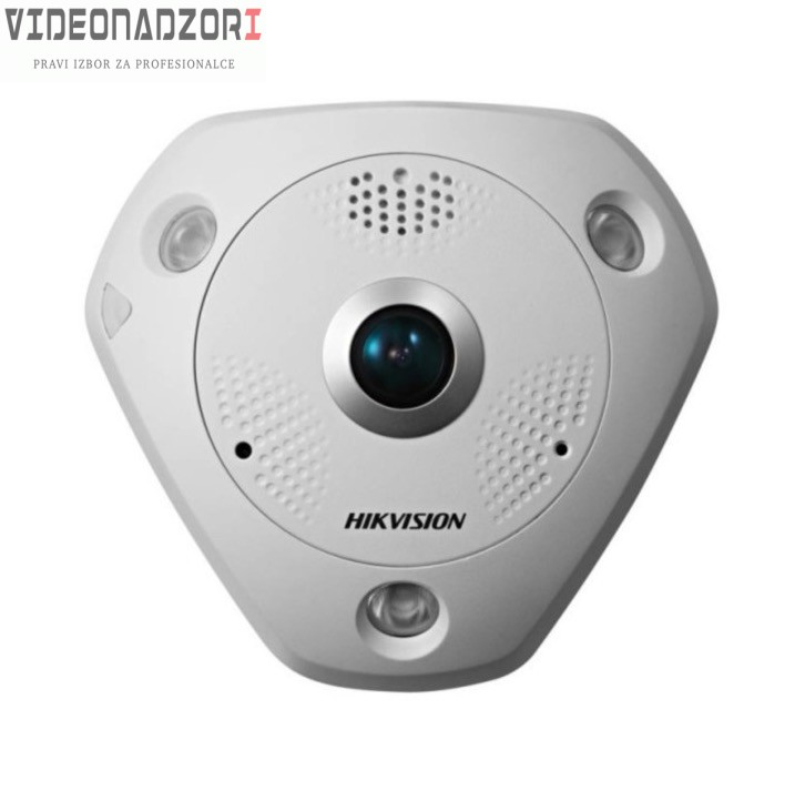 Dome IP Kamera HikVision DS-2CD6362F-IS 6MP FISHEYE 1.27mm 360* kut pokrivanja