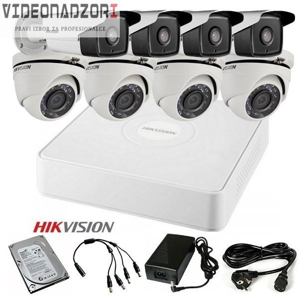TURBOHD Komplet video nadzor 8 FULL HD kamere (Domet Bullet IR 40m i dome 20m, 1080p) brend HikVision Hrvatska [ za 8.427,50kn