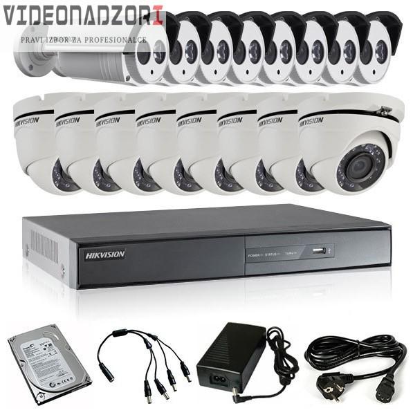 TURBOHD Komplet video nadzor 16 HD kamere (Dome 20, Bullet 40m, 720p) prodavac VideoNadzori Hrvatska  za samo 13.103,75kn