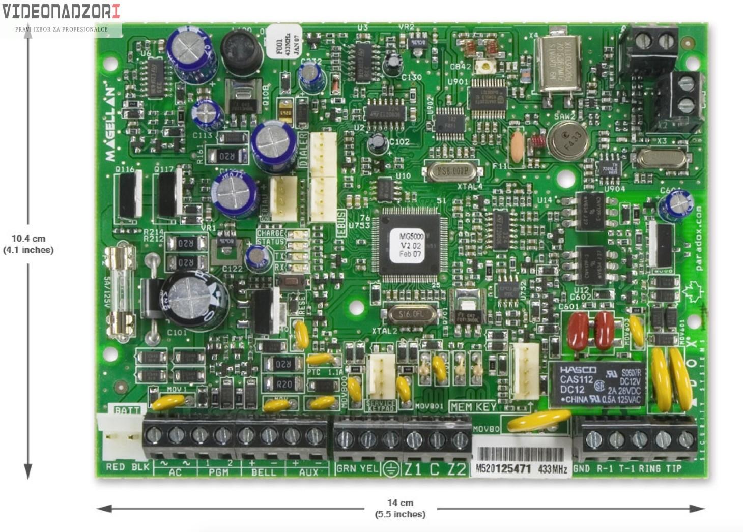 Paradox MG-5050/PCB 433 prodavac VideoNadzori Hrvatska  za samo 1.312,50kn