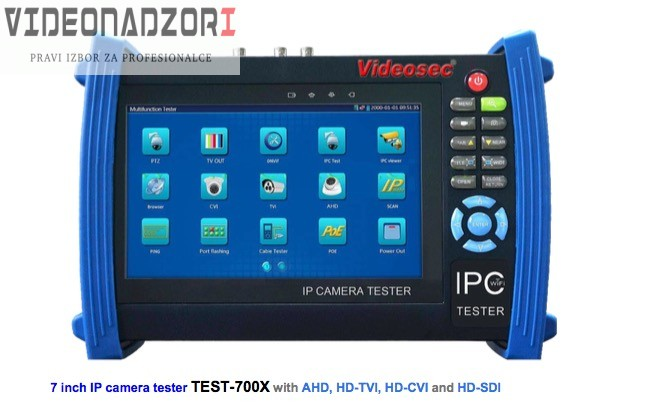 Integrirani tester za IPC, AHD,HDCVI,TVI,HDSDI analogne kamere prodavac VideoNadzori Hrvatska  za samo 7.498,75kn