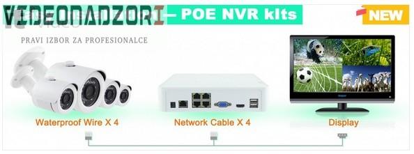 CroCam POE IP video nadzor (WDR, 720p, 2Mpx, 20m IC, 25fp/s, ONVIF 2.4) prodavac VideoNadzori Hrvatska  za 3.737,50kn