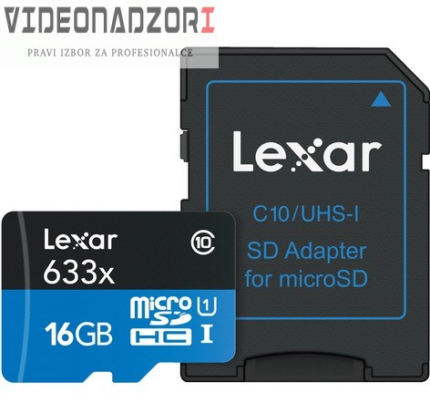 SecureDigital micro 16GB High Speed prodavac VideoNadzori Hrvatska  za samo 86,25kn