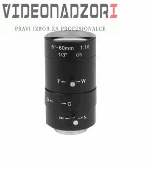 Objektiv IR - manual - VF - 6-60 mm - F1.6 - C brend HikVision Hrvatska [ za 180,00kn