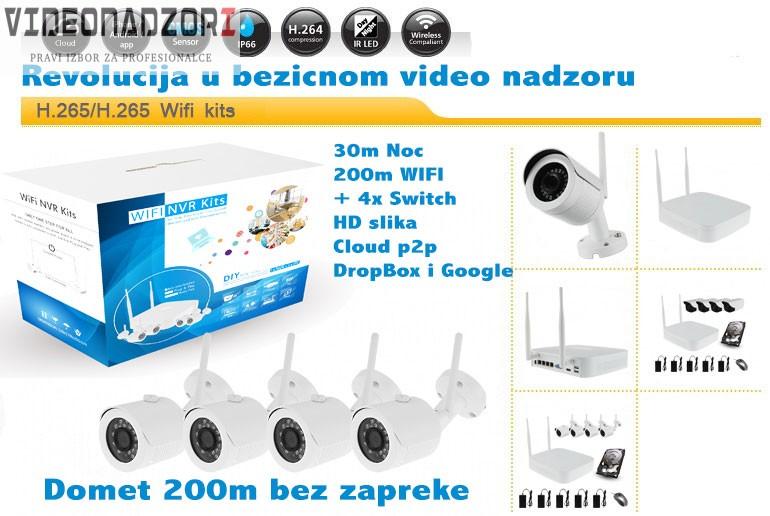 CroCam WiFi IP bežični video nadzor (WDR, 2Mpx, 720p+switch, 30m IC, 25fp/s, ONVIF 2.4) prodavac VideoNadzori Hrvatska  za samo 4.998,75kn
