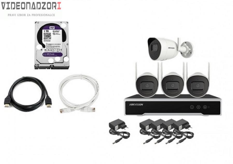 HikVision bezicni video nadzor 4 wifi kamere 4Mpx KOMPLET NK44W0H-1T(WD) (Hard disk, snimac, kamere, ispravljaci, Lan kabel, HDMI) od  za 5.225,00kn