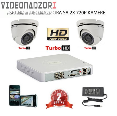 KOMPLET ZA VIDEO NADZOR SA 2x HD KAMERE prodavac VideoNadzori Hrvatska  za 1.812,50kn