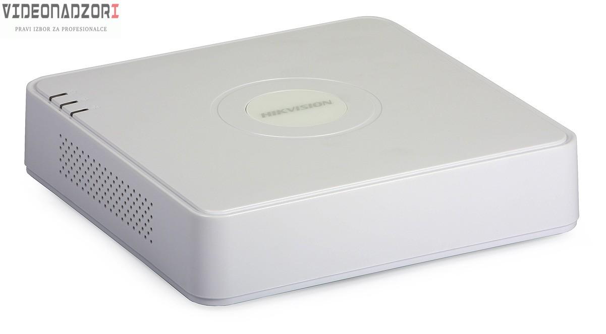 Tribrid TURBOHD video snimač Hikvision (4 kanala + 1IP kamera 4Mpx, 1080p, H.264, H.265+ pro, HDMI, VGA, Audio) prodavac VideoNadzori Hrvatska  za samo 961,25kn