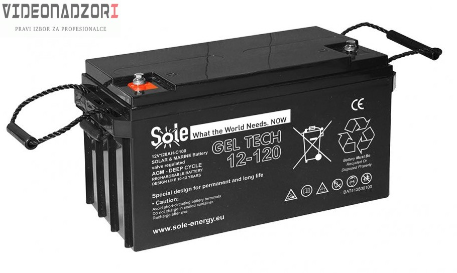 Geltech akumulator 12/240Ah hermetika 54x25x27 prodavac VideoNadzori Hrvatska  za samo 3.061,25kn