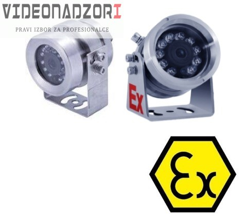"""ATEX certificirana nehrđajuća Ex kamera ITEX701PWC2 SONY1/3""""CMOS Senor (4mm/6mm, 2Mpx, IR do 30m) prodavac VideoNadzori Hrvatska  za 16.380,00kn"""