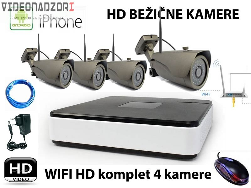 wifi Video nadzor - Komplet 4 kamere !!