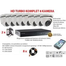 TURBO HD HIKVISION 8 KAMERA - KOMPLET