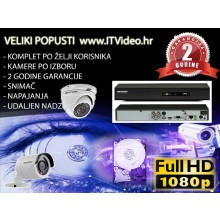 HD Hik video nadzor 2 kamere antivandal Dome ili Bullet