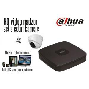 Komplet 4 HD kamere 720p Dome - Dahua