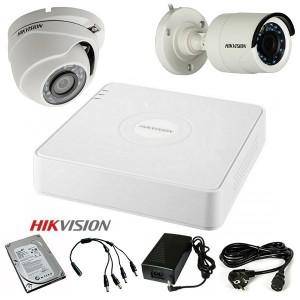 TURBOHD Komplet video nadzor 2 HD kamere Dome ili Bullet (IR 20m, 720p, 2.8mm)