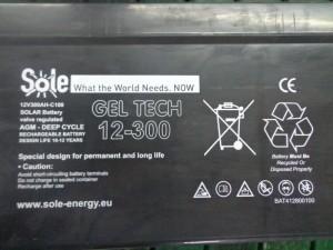 Sole Geltech akumulator 12/300Ah hermetika