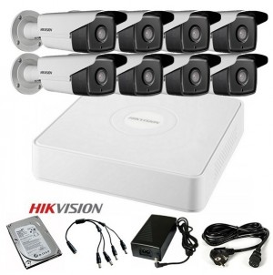 TURBOHD Komplet video nadzor 8 FULL HD kamere (Domet IR 40m, 1080p)