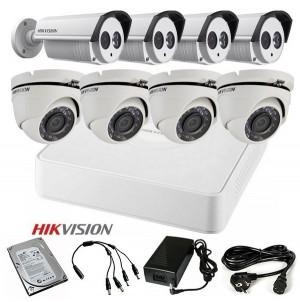 TURBOHD Komplet video nadzor 8 HD kamere (Domet IR 40m i 20m, 720p)