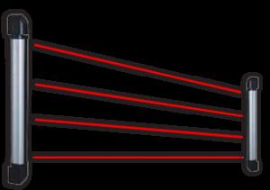 IC barijera 20m/60m, 6 snopova, visina 115cm, niskoprofilna