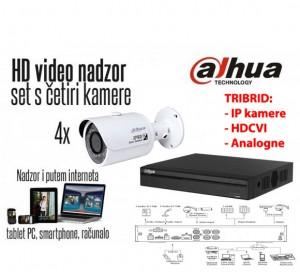 Komplet 4 HD kamere 720p Bullet - Dahua