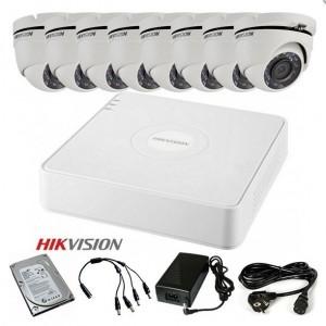 TURBOHD Komplet video nadzor 8 HD kamere (Domet IR 20m, 720p, 2.8mm)