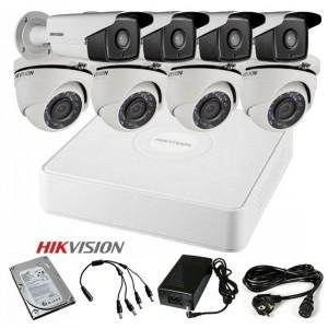 TURBOHD Komplet video nadzor 8 FULL HD kamere (Domet Bullet IR 40m i dome 20m, 1080p)
