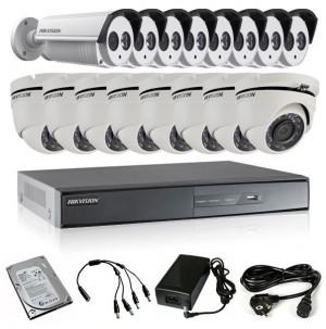 TURBOHD Komplet video nadzor 16 HD kamere (Dome 20, Bullet 40m, 720p)