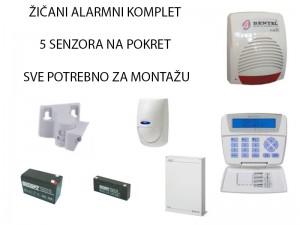 FULL alarm zičani komplet 5