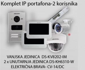 HikVision Komplet portafona - 2 korisnik
