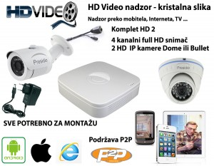 HD Video nadzor 2 Kamere