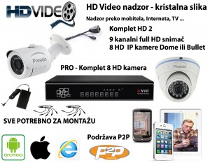 PRO HD Presidio komplet sa 8 kamera