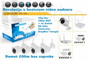 WiFi IP bežični video nadzor (WDR, 3Mpx, 1080p+switch, 30m IC, 25fp/s, ONVIF 2.4)