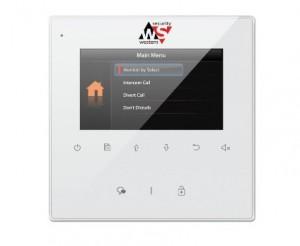 MONITOR - 4.3'' TFT hands-free monitor za V-TEK DT sustave. Tanko kućište bijele boje, tipke osjetljive na dodir