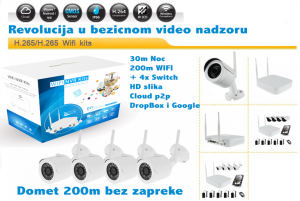 CroCam WiFi IP bežični video nadzor (WDR, 3Mpx, 1080p+switch, 30m IC, 25fp/s)