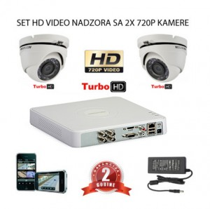 KOMPLET ZA VIDEO NADZOR SA 2x HD KAMERE