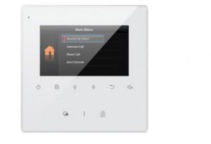 4.3'' TFT hands-free monitor za V-TEK DT sustave. Tanko kućište bijele boje, tipke osjetljive na dodir