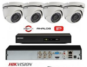 Komplet 4 FULL HD kamere 1080p Bullet Pro snimač